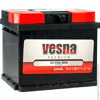 Аккумулятор автомобильный 55ач Vesna 6СТ-55 АзЕ Premium Euro (415 455)