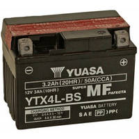 Аккумулятор мото -\+ 3ач МОТО Yuasa 12V 3Ah MF VRLA Battery AGM YTX4L-BS