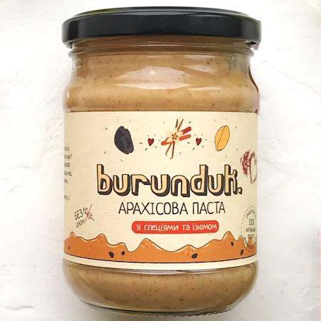 """Арахисовая паста """"С изюмом и специями"""" burunduk"""