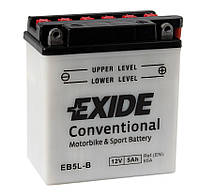 Аккумулятор мото -\+ 5ач Exide EB5L-B