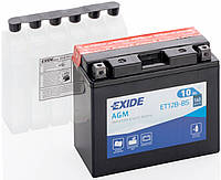 Аккумулятор мото +\- 10ач Exide ET12B-BS