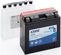 Аккумулятор мото +\- 12ач Exide ET14B-BS