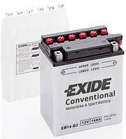 Аккумулятор мото +\- 14ач Exide EB14-B2