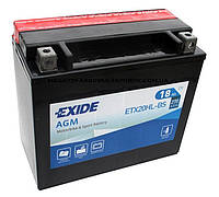 Аккумулятор мото -\+ 18ач Exide ETX20HL-BS