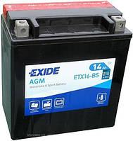 Аккумулятор мото +\- 14ач Exide ETX16-BS