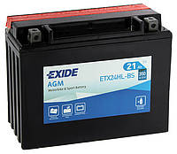 Аккумулятор мото -\+ 21ач Exide ETX24HL-BS