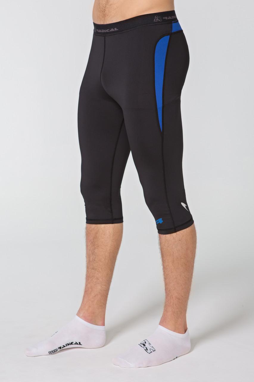 Спортивные мужские шорты-тайтсы Rough Radical Rapid 3/4 (original), компрессионные лосины-бриджи для бега, капри для