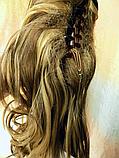 Хвост-шиньон кудрявый на крабе светло-русый мелированный  SP3-12Н124, фото 3