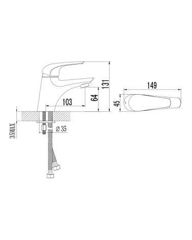 KRINICE смеситель для раковины, хром, 35мм, фото 2