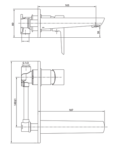 BRECLAV cмеситель для раковины, хром, 35 мм, фото 2