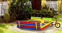 Детская игровая площадка 150 х 154 см (песочница + столик с лавочками)(дитячий ігровий майданчик з пісочницею)