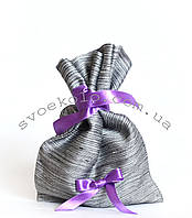 Мешочек для подарков с фиолетовой лентой