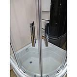 Душевая кабина VERONIS KV-3-100 прозрачное стекло 100х100х195 (ИТАЛИЯ), фото 2