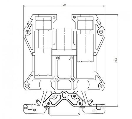 Клемма винтовая RSA 70 A синяя (A181131), фото 2