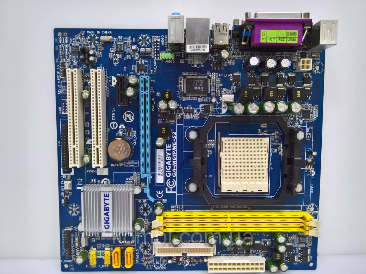 Материнская плата Gigabyte M61PME S2 AM2+/AM2 DDR2
