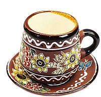 """Набор кофейный керамический  """"Декор Калина"""", Украинская авторская керамика"""