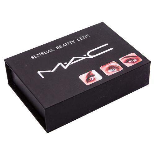 Линзы цветные косметические Mac True Sapphire