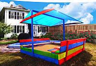 Детская игровая площадка с крышей 150 х 154 см (песочница с крышей + столик с лавочками), фото 1