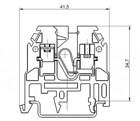 Клемма винтовая RSA 4 A серая (A131211), фото 2