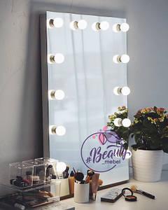 Зеркало с подсветкой, гримерное зеркало .