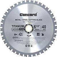 Диск пильный по металлу Concord 40T 165mm