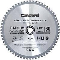 Диск пильный по металлу Concord 60T 185mm