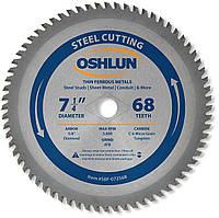 Диск отрезной для резки тонкостенных черных и цветных металлов  Oshlun 7-1/4 68T 184mm