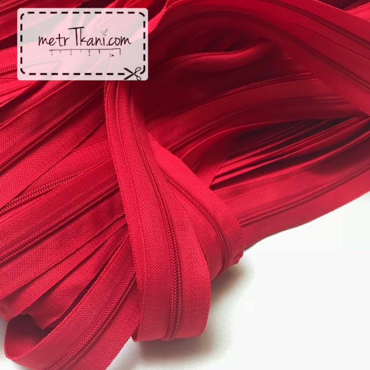 Молния рулонная красного цвета, Т3 (метражом) №306