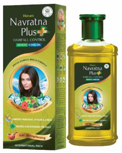 Navratna. Масло против выпадения волос из 9 индийских трав, 200 мл