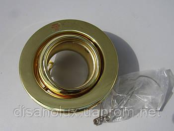Світильник точковий FDL -01 MR16 поворотний Золото