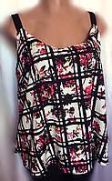 Женская блуза - майка New Look, летняя из шифона, большой размер 52/56, фото 1