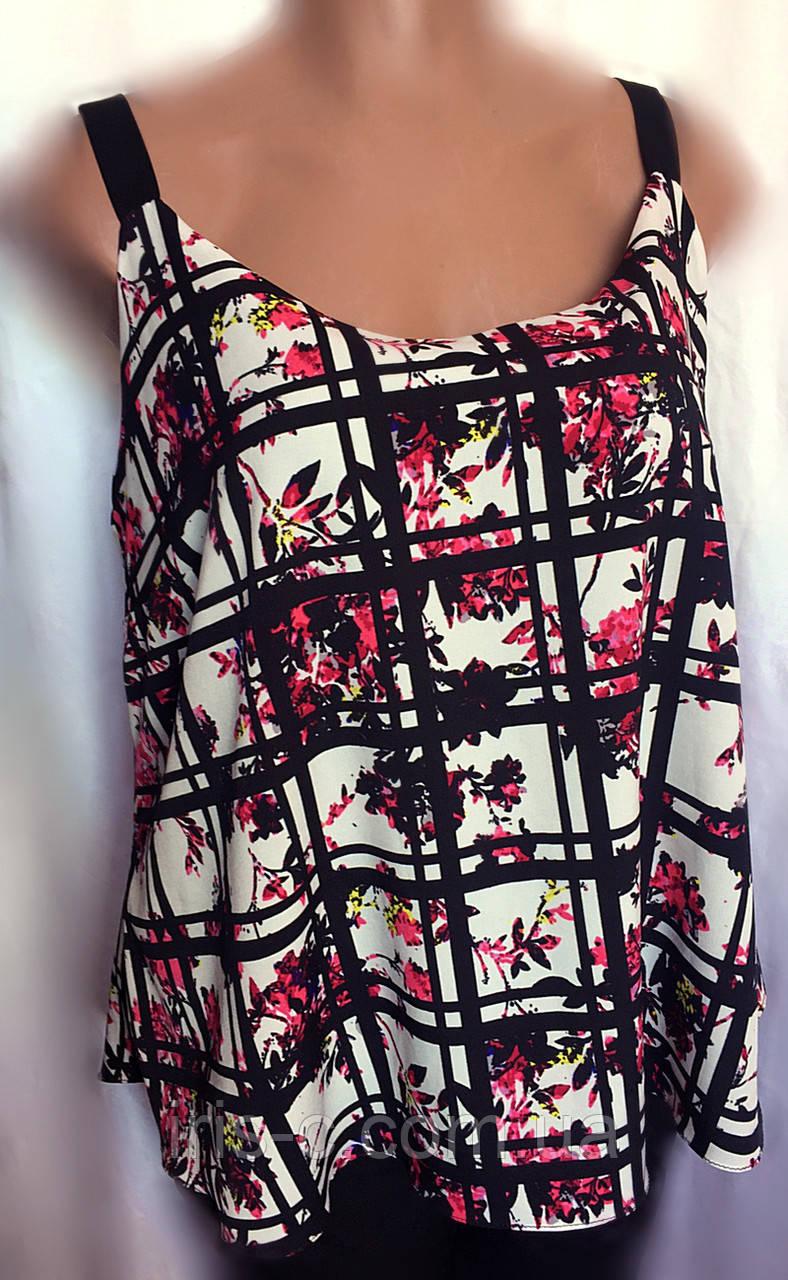 Женская блуза - майка New Look, летняя из шифона, большой размер 52/56