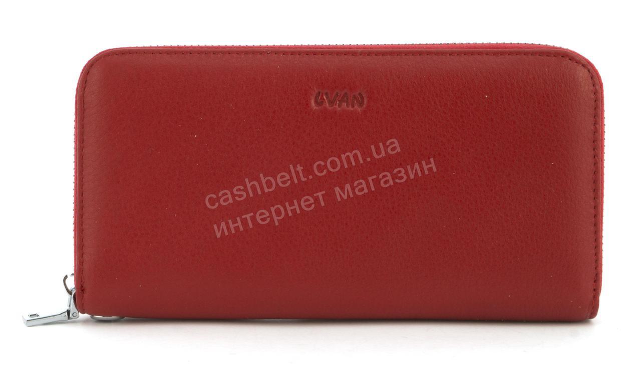 d919026a5736 Стильный оригинальный женский кожаный кошелек барсетка высокого качества  LVAN art. 08-225 красный
