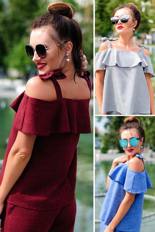 Стильна льняная блузка *АРИЗОНА*