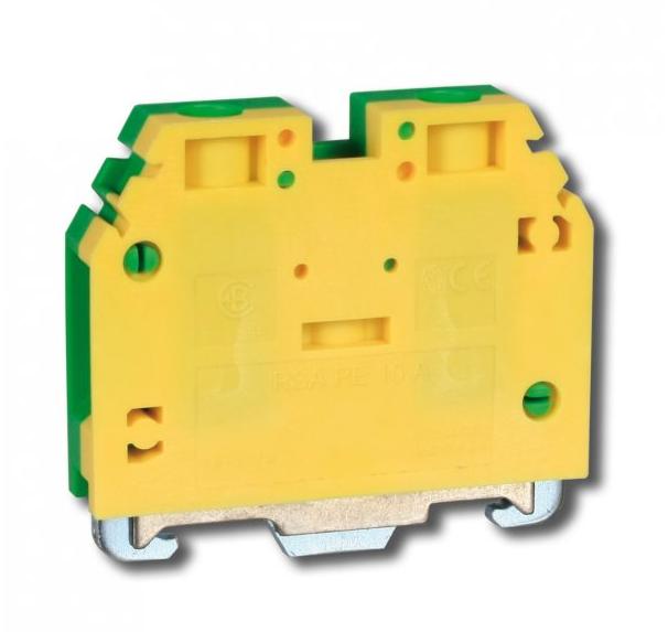 Клемма винтовая для заземления RSA PE 4 A желто-зеленая (A531231)