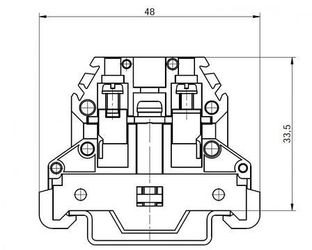 Клемма винтовая для заземления RSA PE 4 A желто-зеленая (A531231), фото 2
