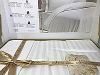 Постельное бельё евро сатин страйп By IDO белый