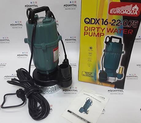 Погружной дренажный насос Euroaqua QDX16–22–0.75