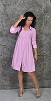 Женское платье - рубашка на длинный рукав, фото 1