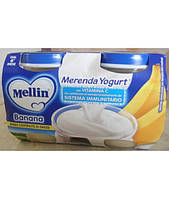 Йогурт Mellin Banana e Yogurt от 6 мес. 2х120гр