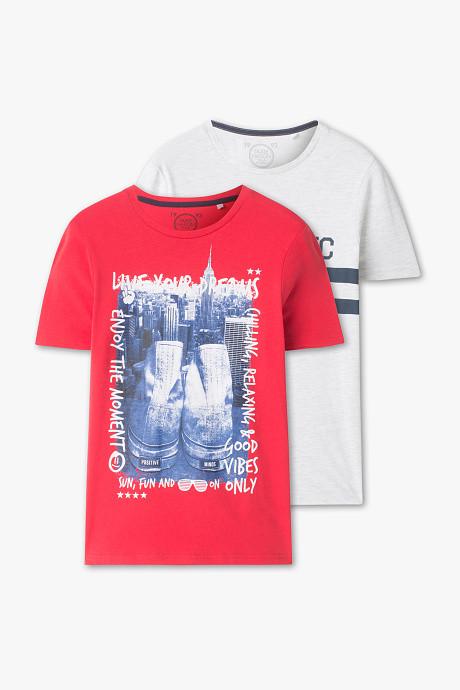 Две подростковые футболки с принтом для мальчика C&A Германия Размер 158-164