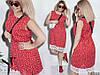 Платье больших размеров 48+с принтом, украшено кружевом / 2 цвета  арт 5453-8, фото 8
