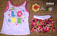 "Комплект ""Лето""майка-туника и шортики на девочку."