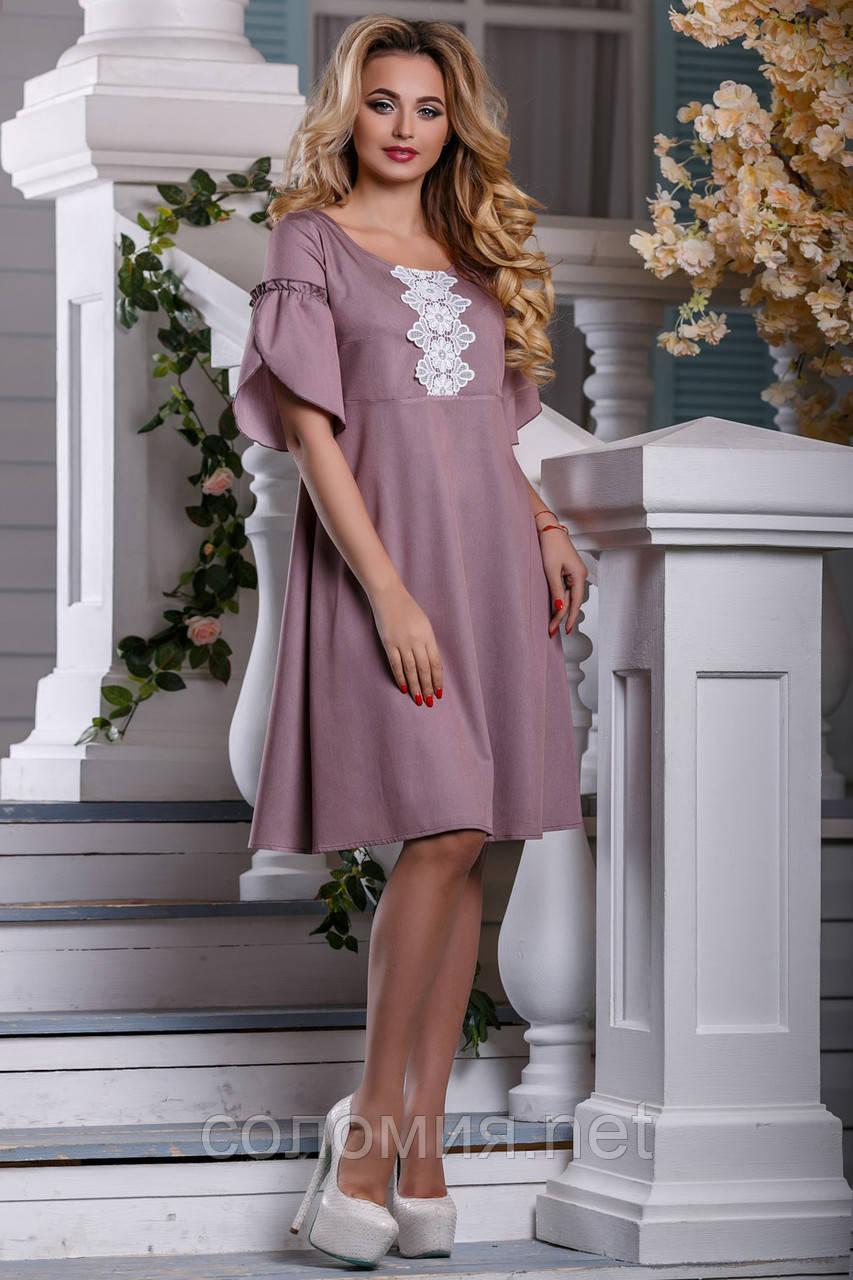 Элегантное летнее Платье глубокого розово-коричневого оттенка   44-50р