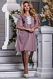Элегантное летнее Платье глубокого розово-коричневого оттенка   44-50р, фото 2