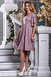 Элегантное летнее Платье глубокого розово-коричневого оттенка   44-50р, фото 3