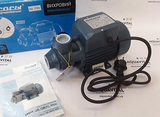 Вихревой бытовой поверхностный насос «Насосы + Оборудование» QB60P