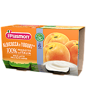 Йогурт Plasmon Albicocca от 6мес. 2х120гр