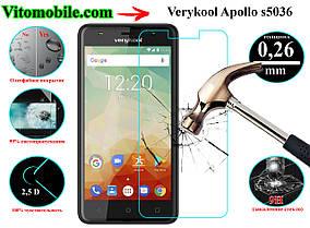 Защитное стекло оригинальное Verykool Apollo S5036 2,5D / закругленные края / олеофобное покрытие
