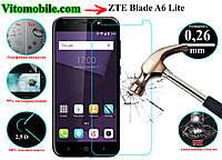Защитное стекло ZTE Blade A6 Lite / 2,5D / олеофобное покрытие